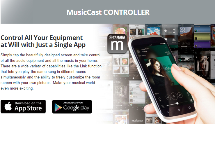 Control All Your Equipment at Will with Just a Single App Simply tap the beautifully designed screen and take control of all the audio equipment and all the music in your home. There are a wide variety of capabilities like the Link function that lets you play the same song in different rooms simultaneously and the ability to freely customize the room screen with your own pictures. Make your musical world even more exciting.