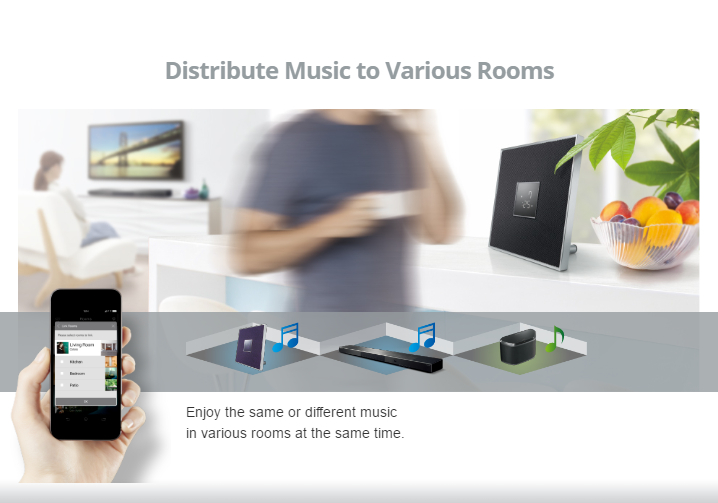 Yamaha MusicCast - Distribute music to various rooms