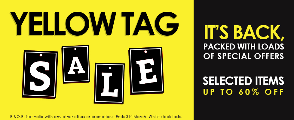 Musical Images' Yellow Tag Sale is Back! With loads of special offers and up to 60% off selected items. Visit one of our branches or call us on: 020 8952 5535 for more information.
