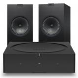 Sonos Wireless Amplifier with Kef Q350 Bookshelf Speakers