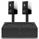 Sonos Wireless Amplifier with Kef R3 Bookshelf Speaker (Pair)