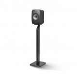 Kef LSX Wireless Music Speakers in Black with S1 Floorstands in Black