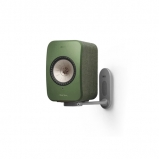 Kef LSX Wireless Music Speakers in Olive with B1 Wall Bracket in White
