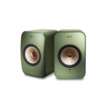 Kef LSX Wireless Music Speakers in Olive