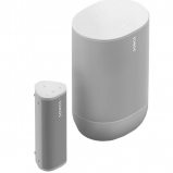 Sonos Move Portable Bluetooth Speaker with Roam Smart Speaker with Voice Control - White