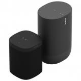 Sonos One Wireless Speaker with Amazon Alexa + Move Portable Bluetooth Speaker