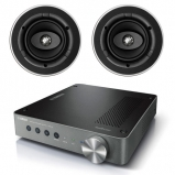 Yamaha WXA-50 Wireless Streaming Amplifier with 2 x KEF Ci130CR In-Ceiling Speakers