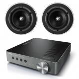 Yamaha WXA-50 Wireless Streaming Amplifier with 2 x KEF Ci130QR In-Ceiling 2-Way Speaker