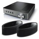Yamaha WXA-50 Wireless Amplifier with 2x MusicCast 50 Wireless Speakers - Black