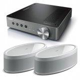 Yamaha WXA-50 Wireless Amplifier with 2x MusicCast 50 Wireless Speakers - White