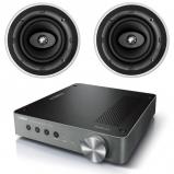 Yamaha WXA-50 Wireless Streaming Amplifier 2 x KEF Ci200CR High Quality Ceiling Speakers
