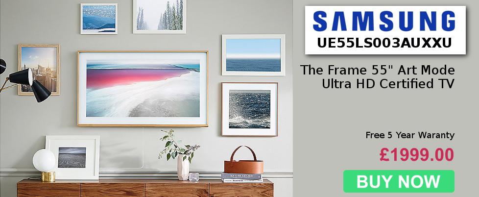 """Samsung The Frame 55"""" Art Mode Ultra HD Certified TV"""