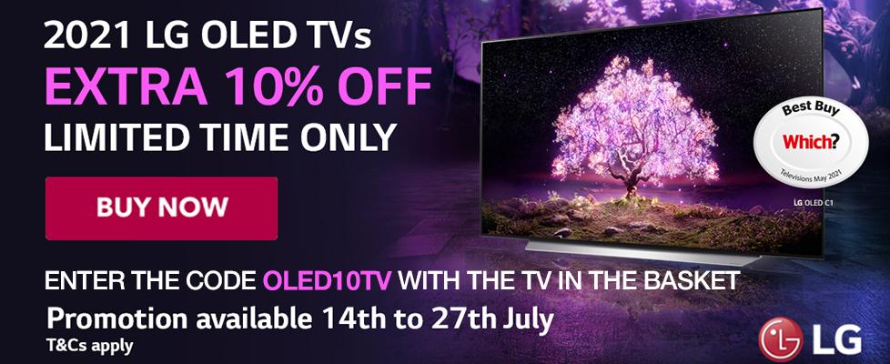 LG 10% off OLED TVs