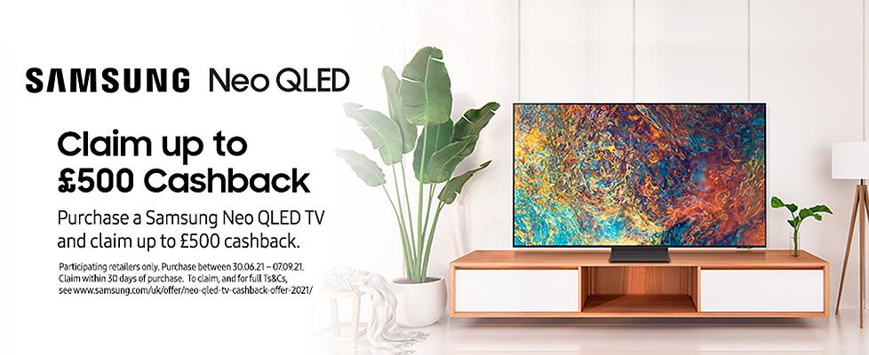 Samsung Neo QLED TV Cashback Promotion