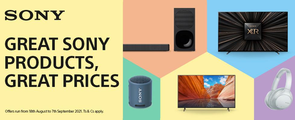 Sony August Savings