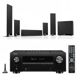 Denon AVC-X3700H 9.2ch 8K AV Amplifier with KEF T205 5.1 Home Theatre Speaker Package