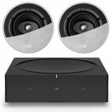 Sonos Wireless Amplifier with 2 x KEF Ci130CR In-Ceiling Speaker