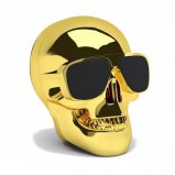 Jarre AeroSkull Nano Wireless Bluetooth Speaker in Chrome Gold front
