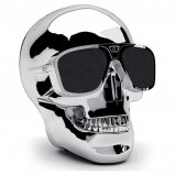 Jarre AeroSkull Nano Wireless Bluetooth Speaker in Chrome Silver front