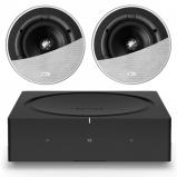Sonos Wireless Amplifier with 2 x KEF Ci130QR In-Ceiling 2-Way Speakers