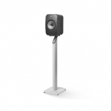 Kef LSX Wireless Music Speakers in Black with S1 Floorstands in White