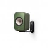 Kef LSX Wireless Music Speakers in Olive with B1 Wall Bracket in Black