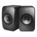 Kef LSX WIreless Music Speakers in Black pair