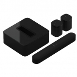 Sonos 2 x One SL Home Speaker, Beam Compact Soundbar with Subwoofer Gen 3 - Black