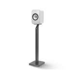 Kef LSX Wireless Music Speakers in Gloss White with S1 Floorstands in Black