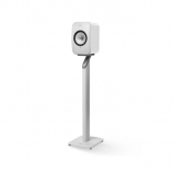 Kef LSX Wireless Music Speakers in Gloss White with S1 Floorstands in White