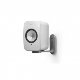 Kef LSX Wireless Music Speakers in White with B1 Wall Bracket in White