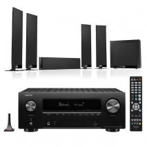 Denon AVRX2700H 7.2 Ch 8K AV Receiver with Kef T305 5.1 Home Theatre Speaker System