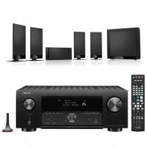 Denon AVC-X4700H 9.2ch 8K AV Amplifier with KEF T105 5.1 Home Theatre Speaker Package