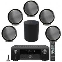 Denon AVC-X4700H 9.2ch 8K AV Amplifier, Elipson 5 x Planet M Bookshelf Speakers with Planet Sub