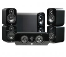 Q Acoustics Q3000 5.1 home cinema package in Black Leather