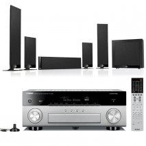 Yamaha RXA870T AV Receiver in Titanium with Kef T205 5.1 Home Cinema Speakers