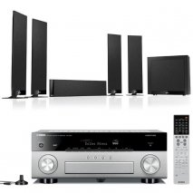 Yamaha RXA870T AV Receiver in Titanium with Kef T305 5.1 Home Cinema Speakers