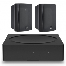 Sonos Wireless Amplifier with KEF Ventura 4 Outdoor 2-way Ci Series Speakers - Pair