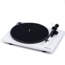 Pro-Ject Essential III Turntable in White front