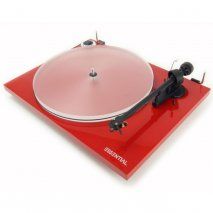 Pro-Ject Essential III A Turntable with Acryl-IT E Platter in Red front