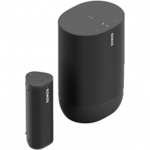 Sonos Move Portable Bluetooth Speaker with Roam Smart Speaker with Voice Control - Black