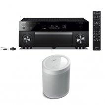 Yamaha RXA1080 7.2 Ch AV Receiver with MusicCast 20 Wireless Speaker - White