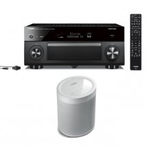 Yamaha RXA2080 9.2 Ch AV Receiver with MusicCast 20 Wireless Speaker - White