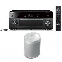 Yamaha RXA3080 9.2 Ch AV Receiver with MusicCast 20 Wireless Speaker - White