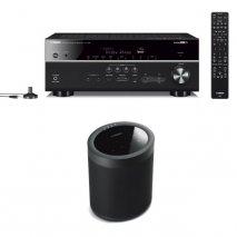 Yamaha RX-V685 7.2 Ch AV Receiver with MusicCast 20 Wireless Speaker - Black