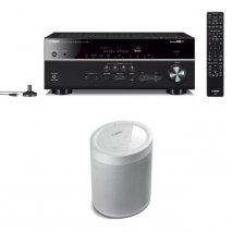 Yamaha RX-V685 7.2 Ch AV Receiver with MusicCast 20 Wireless Speaker - White