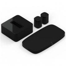Sonos 2 x One Wireless Speakers with Playbase and Subwoofer in Black