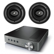 Yamaha WXA-50 Wireless Streaming Amplifier with 2 x KEF Ci160CR In-Ceiling 2-Way Speakers