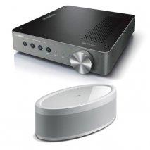 Yamaha WXA-50 Wireless Amplifier with MusicCast 50 Wireless Speaker - White