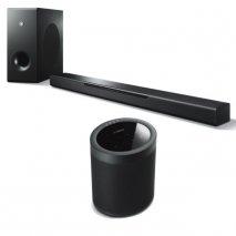 Yamaha MusicCast Bar 400 Soundbar, Sub + MusicCast 20 Wireless Speaker - Blk